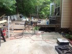 deck rebuild before & after