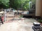 deck rebuild before & after